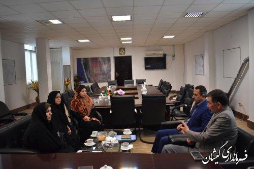 دیدار و گفتگو مدیرکل امور بانوان و دبیرستاد انتخابات استان با فرماندار شهرستان
