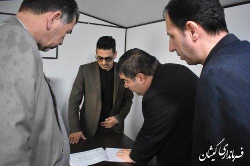 بازدیدفرماندار بهمراه مدیرکل بنیادمسکن انقلاب اسلامی گیلان ازپروژه احداث50 واحدی
