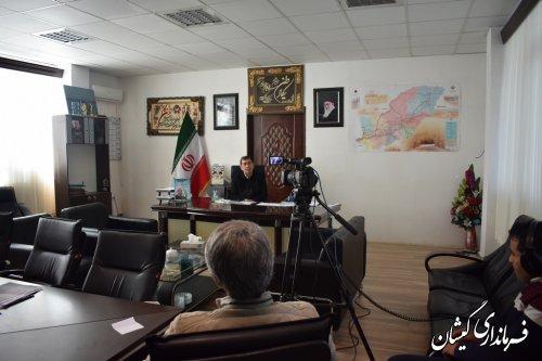 مصاحبه فرماندار گمیشان با برنامه تلویزیونی ترکمنی اولکام