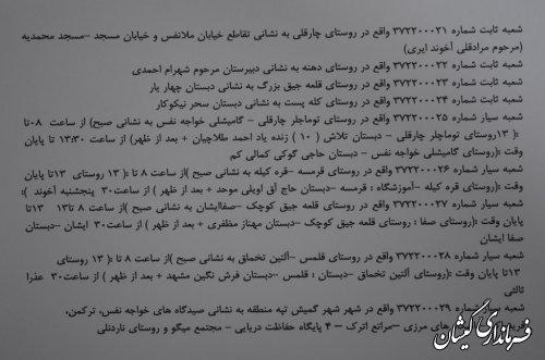 شعب اخذرای انتخابات یازدهمین دوره مجلس شورای اسلامی حوزه انتخابیه گمیشان