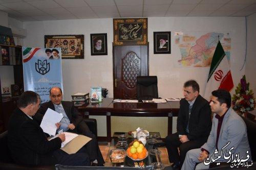 بازدید استاندار گلستان از ستاد انتخابات شهرستان گمیشان
