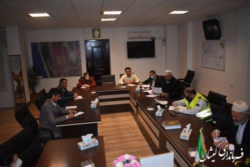 جلسه کمیته برداشت کلزا و غلات  شهرستان گمیشان برگزار شد