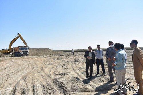 آغاز عملیات اجرایی و خاک برداری بیمارستان ۶۴تخت خوابی شهرستان گمیشان