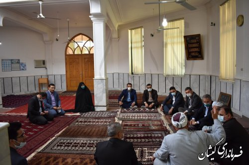 دیدار معاون سیاسی امنیتی و اجتماعی استاندار با امام جمعه شهرستان گمیشان