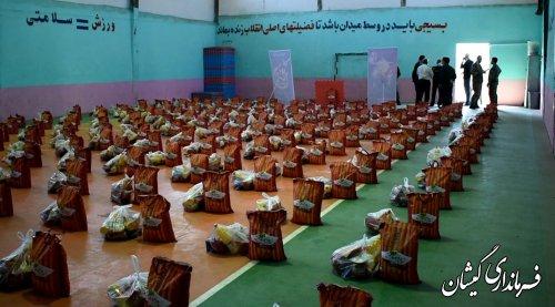 270 بسته غذایی به همت سپاه در بین نیازمندان گمیشان توزیع شد