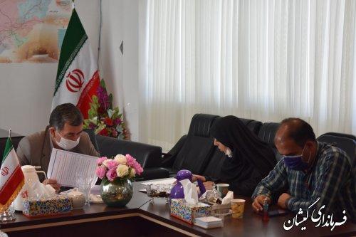 جلسه کمیته فناوری اطلاعات ستاد انتخابات شهرستان گمیشان برگزار شد