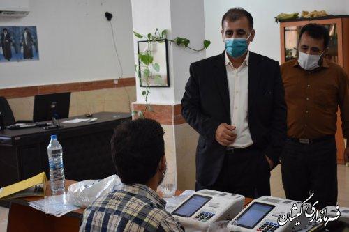 مانور انتخاباتی مرحله دوم مجلس شورای اسلامی گمیشان با موفقیت برگزار شد