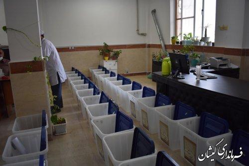 آماده سازی صندوق شعبات اخذ رأی شهرستان گمیشان