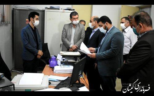 بازدید سرزده استاندار از ستاد انتخابات شهرستان گمیشان