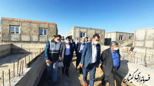 بازدید معاون عمرانی استاندار گلستان از پروژه 50 واحدی شهرستان