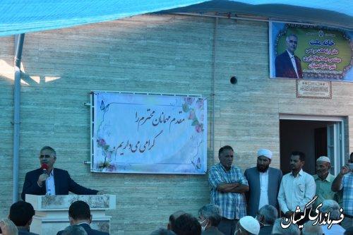 افتتاح  دفتر ارتباطات مردمی نماینده مجلس یازدهم غرب استان گلستان در گمیشان