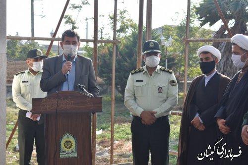 غبار روبی و عطر افشانی مزارشهدای گمنام در گمیشان