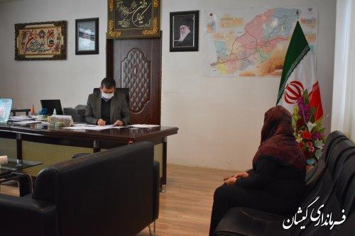 برگزاری دیدار ملاقات عمومی فرماندار گمیشان با شهروندان