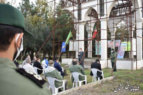 مزار شهداي گمنام  شهرستان در آیینی غبار روبی و عطر افشانی شد