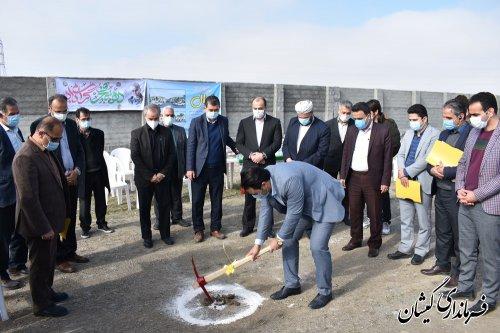 عملیات اجرایی مجتمع گردشگری کرال در شهرستان گمیشان آغاز شد