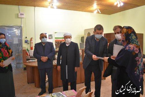 تجلیل فرماندار گمیشان از برگزیدگان جشنواره کتابخوانی رضوی شهرستان