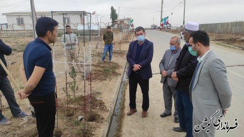 برنامه متمرکز زیباسازی ورودی روستاهای بخش گلدشت