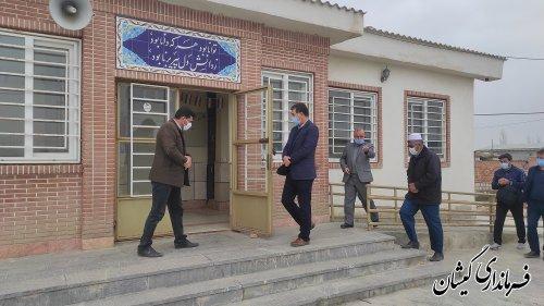 بازدید فرماندار گمیشان از مدرسه سطوت منش روستای توماجلر آلتین