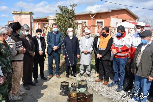 مراسم متمرکز درختکاری شهرستان گمیشان در روستای قره کیله