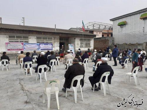 مراسم کلنگ زنی مدرسه شهدای روستای دهنه گمیشان برگزار شد