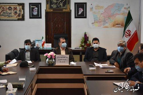 اولین جلسه کمیته برداشت محصولات کشاورزی شهرستان گمیشان برگزار شد