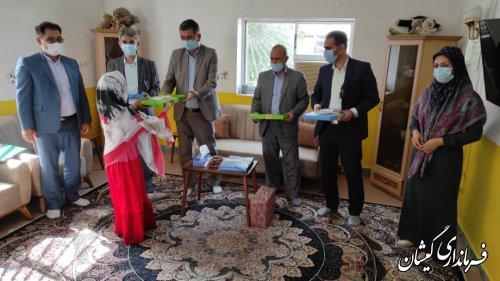 دیدار فرماندار گمیشان با دختران موسسه خیریه حضرت زینب کبری (س) سیمین شهر