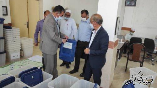 صندوق اخذ رای انتخابات شهرستان گمیشان آماده سازی شد